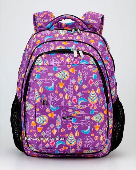 Рюкзак школьный подростковый для девочки DOLLY (17л) 534 мод.