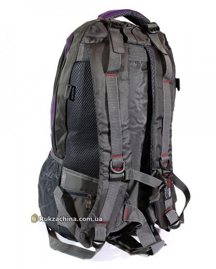 Туристический рюкзак (30л) (фиолетово-серый)
