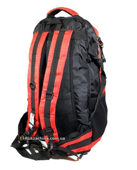 Туристический рюкзак (40л) (красно-черный)