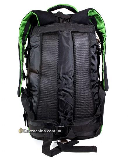 Туристический рюкзак (40л) (черно-зеленый)