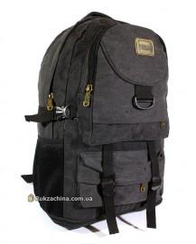 Туристический раздвижной рюкзак (35-45л) (серый)