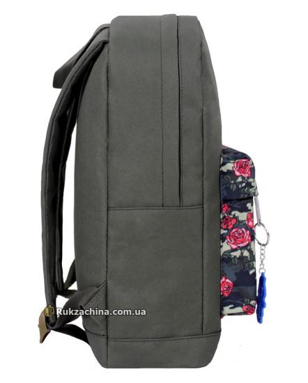 """Рюкзак """"Молодежный"""" (17л) BAGLAND (розы-камуфляж)"""